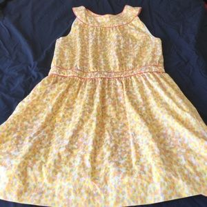 Brooks Brothers yellow and white dotted sundress
